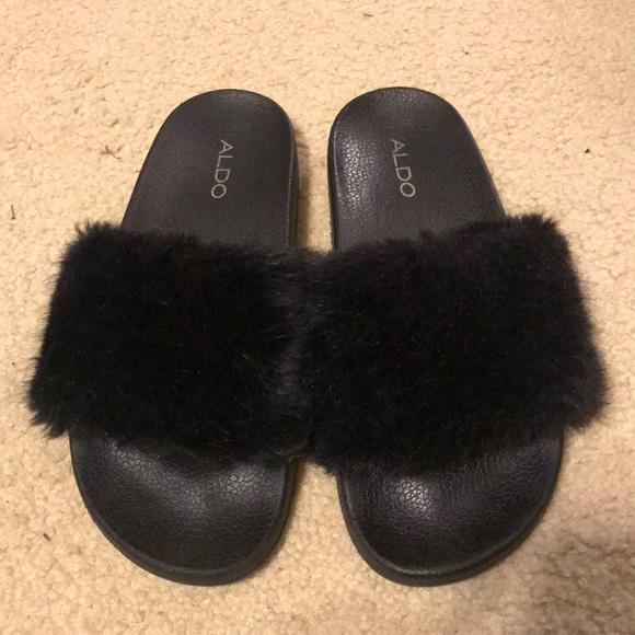 9d9ad630e77 Aldo Shoes - Aldo Fur Sandals